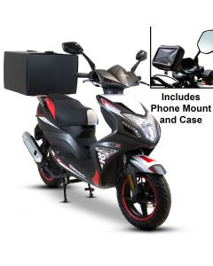 Motorcycle Food Delivery Starter Kit - Phone Mount + Pizza Box With Wooden Board