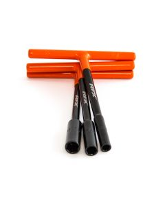 RFX Pro Standard Reach T-Bar Set with Orange Rubber Handles - 8mm/10mm/12mm