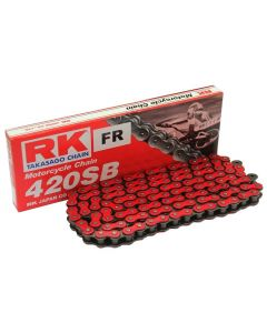 RK 420D x 106 Standard Motorcycle Chain With Split Link In Red