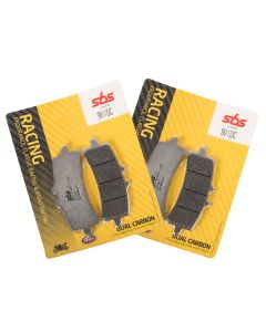 SBS 901 DC Dual Carbon Front Brake Pads Pair - Aprilia / BMW / Honda + More