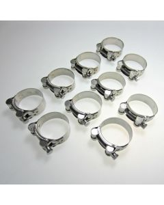 Stainless Steel Motorcycle Exhaust Clamp 48-51mm x10