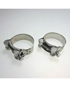 Stainless Steel Motorcycle Exhaust Clamp 48-51mm x2