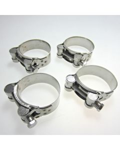 Stainless Steel Motorcycle Exhaust Clamp 52-55mm x4