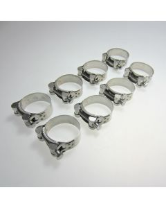 Stainless Steel Motorcycle Exhaust Clamp 48-51mm x8