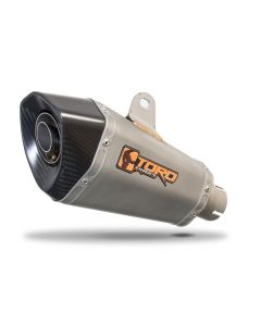 Toro 51mm Right-Hand Slip-on Hex Cone Stainless/Carbon Fibre Motorcycle Exhaust