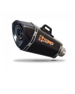 Toro 51mm Right-Hand Slip-on Hex Cone Carbon Fibre Motorcycle Exhaust Silencer