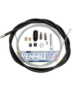 Venhill Universal Motorcycle 1.35m Clutch Cable Kit - Black