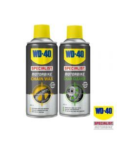 WD40 Saver Pack with Specialist Motorcycle Chain Wax & Cleaner 400ml
