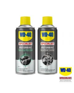 WD40 Saver Pack with Specialist Motorcycle Wax & Polish/Silicone Shine 400ml