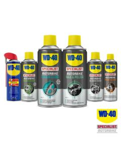 WD40 Pack of Motorcycle Chain Lube/Cleaner/Polish/Silicone/Brake Cleaner/WD-40