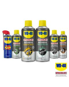 WD40 Saver Pack of Specialist Motorcycle Chain Wax/Cleaner/Polish/Silicone/WD-40
