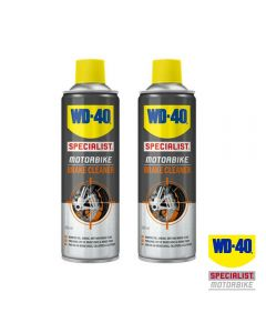 WD40 Twin Pack of Specialist Motorcycle Brake Cleaner 500ml