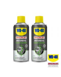 WD40 Twin Pack of Specialist Motorcycle Chain Cleaner 400ml