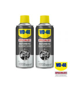 WD40 Twin Pack of Specialist Motorcycle Silicone Shine 400ml