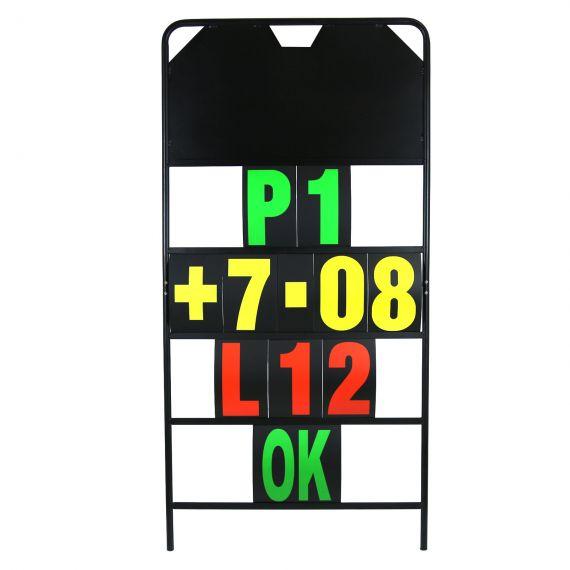 MPW Race Dept 150cm x 75xm 4 Row Pit Board & Number Set