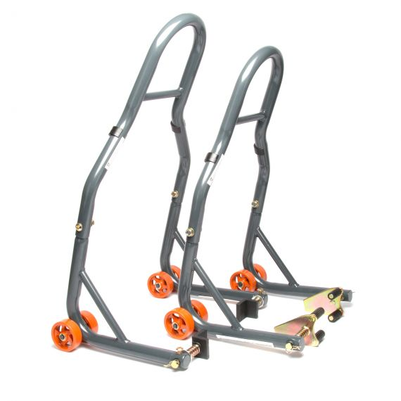 MPW Race Dept Front and Rear Paddock Stand with L-Adapter Combo Pack