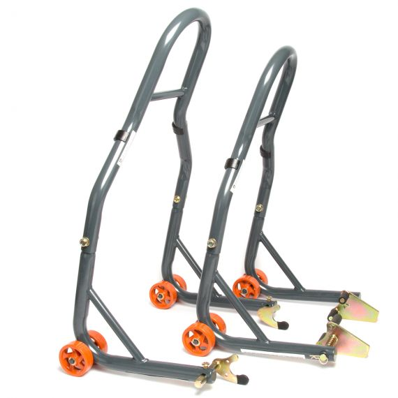 MPW Race Dept Front and Rear Paddock Stand with V-Adapter Combo Pack